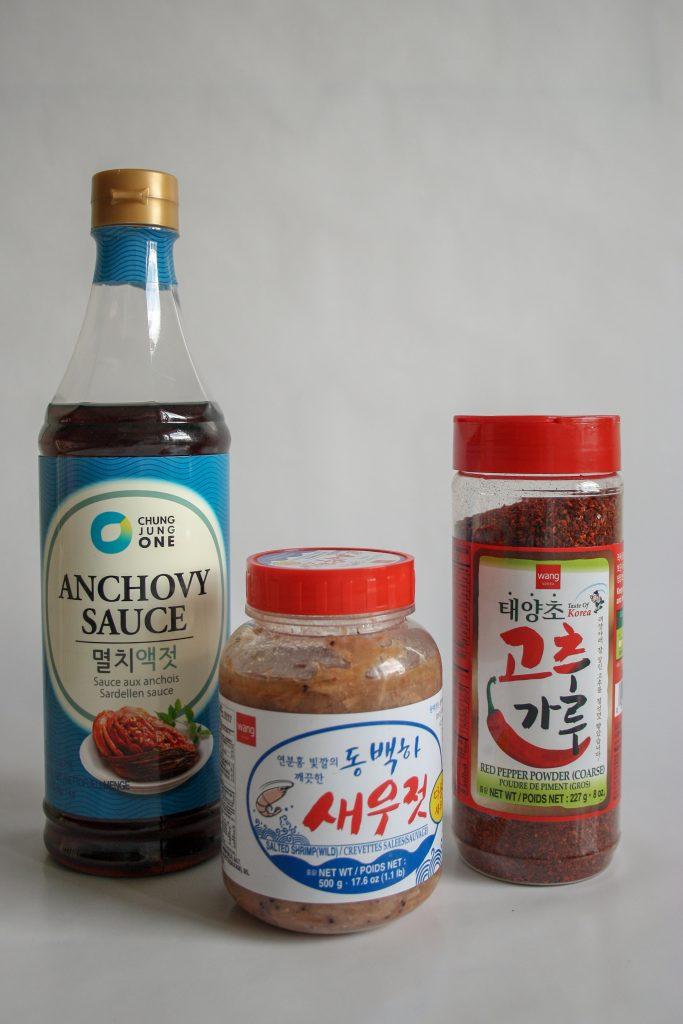 kryddor till kimchi