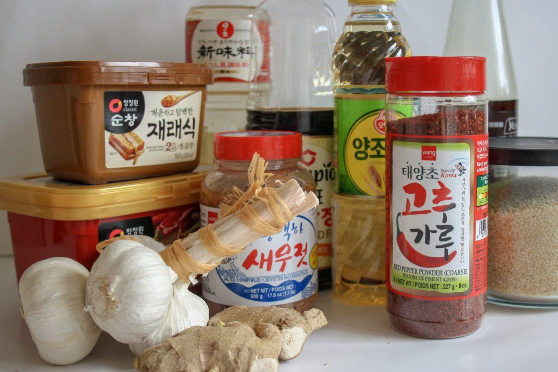 koreanska ingredienser